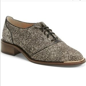 Louise et Cie Franny Calf Hair Lace Up Oxfords